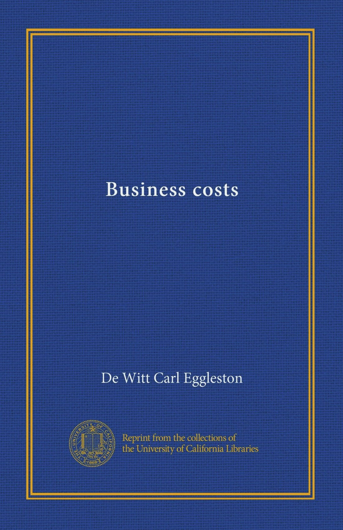 Business costs pdf