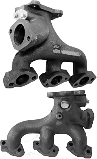 APDTY 133951 Exhaust Manifold Cast Iron Assembly Fits Rear Of Engine Bay on 3.3L or 3.8L V6 2008-2010 Dodge Grand Caravan or Chrysler Town /& Country Replaces 4666084AC, 04666084AC