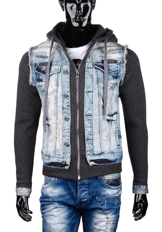 Cipo & Baxx Men's Blouse Jacket Blue Light Blue