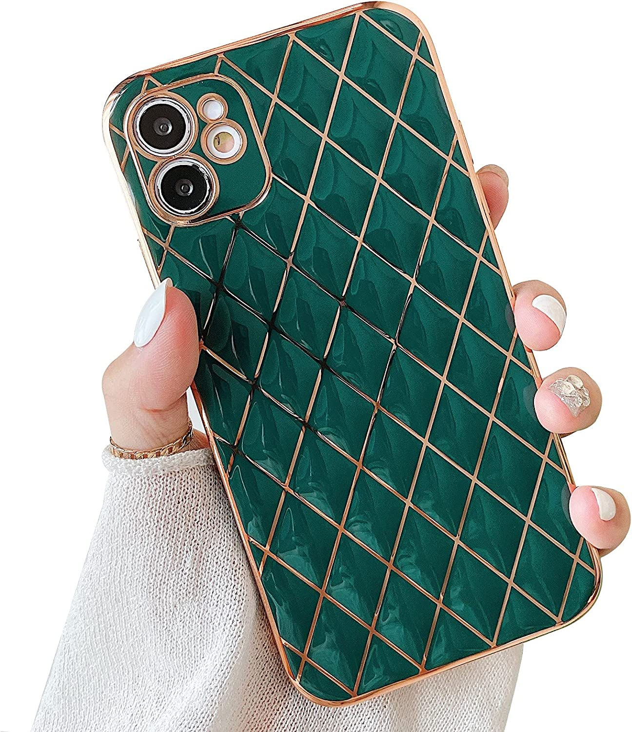 Hapitek Compatible with iPhone 11 Case for Women Cute Slim Flexible Cameral Protective Chic Aesthetic Retro Vintage Phone Case for iPhone 11 6.1 Inch