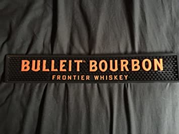 Bulleit Bourbon Professional Series Bar Drip Mat - Orange & Black Large Lettering Style
