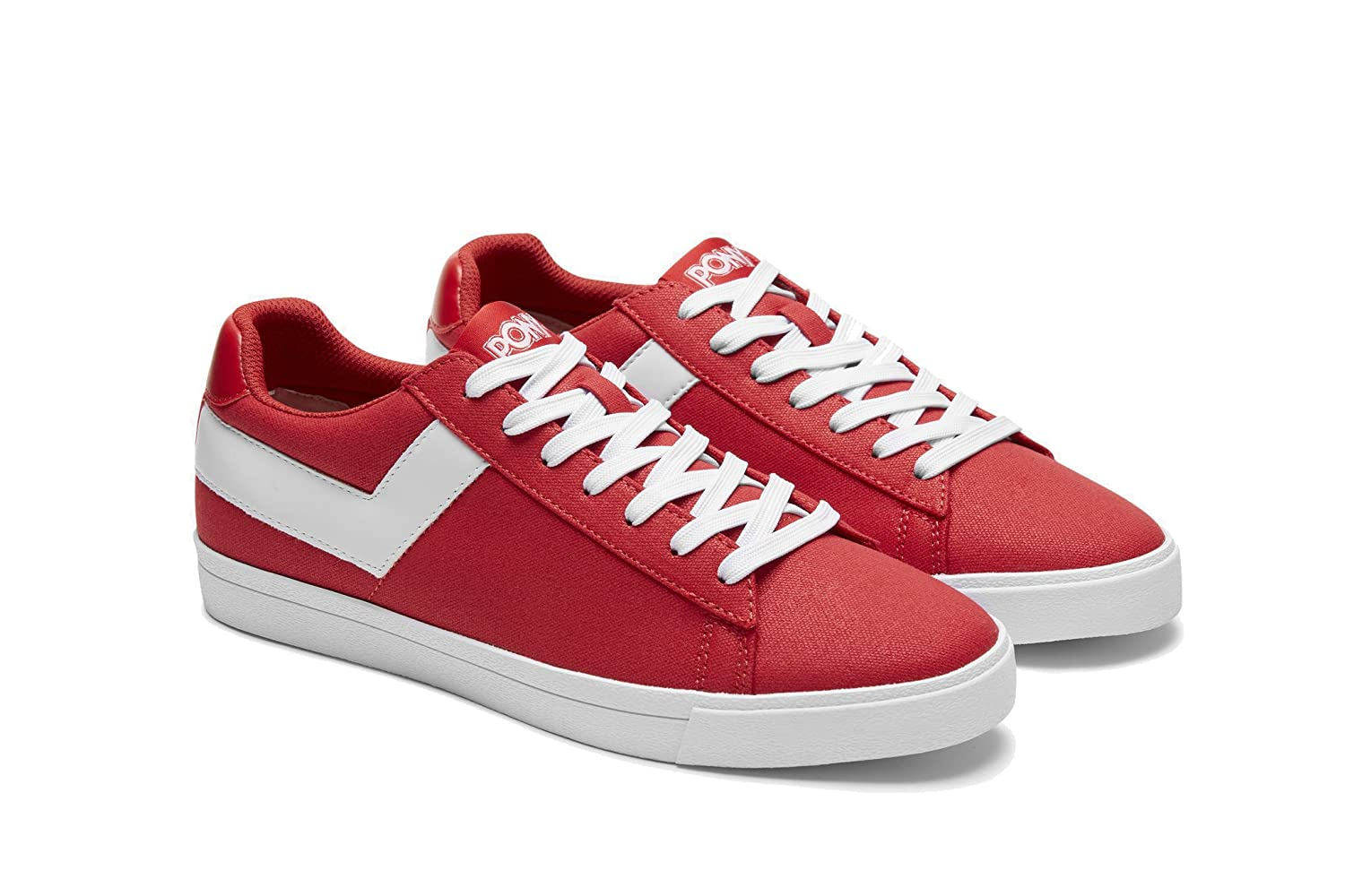 Pony Women's Top-Star-Lo-Core-Canvas Sneakers Shoes B07D1TPH34 6 B(M) US|Red White