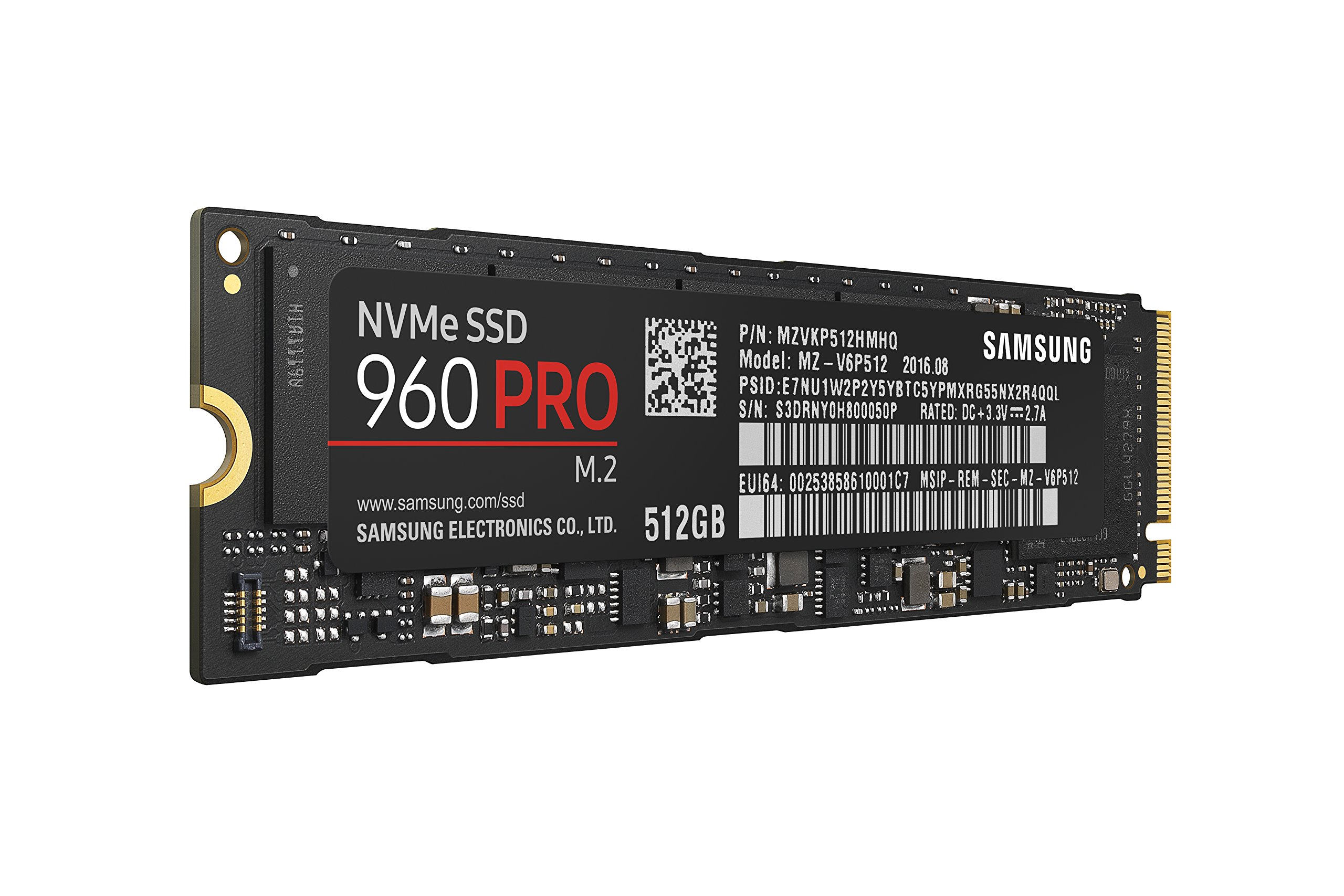 Samsung 960 PRO Series - 512GB PCIe NVMe - M.2 Internal SSD (MZ-V6P512BW) by Samsung