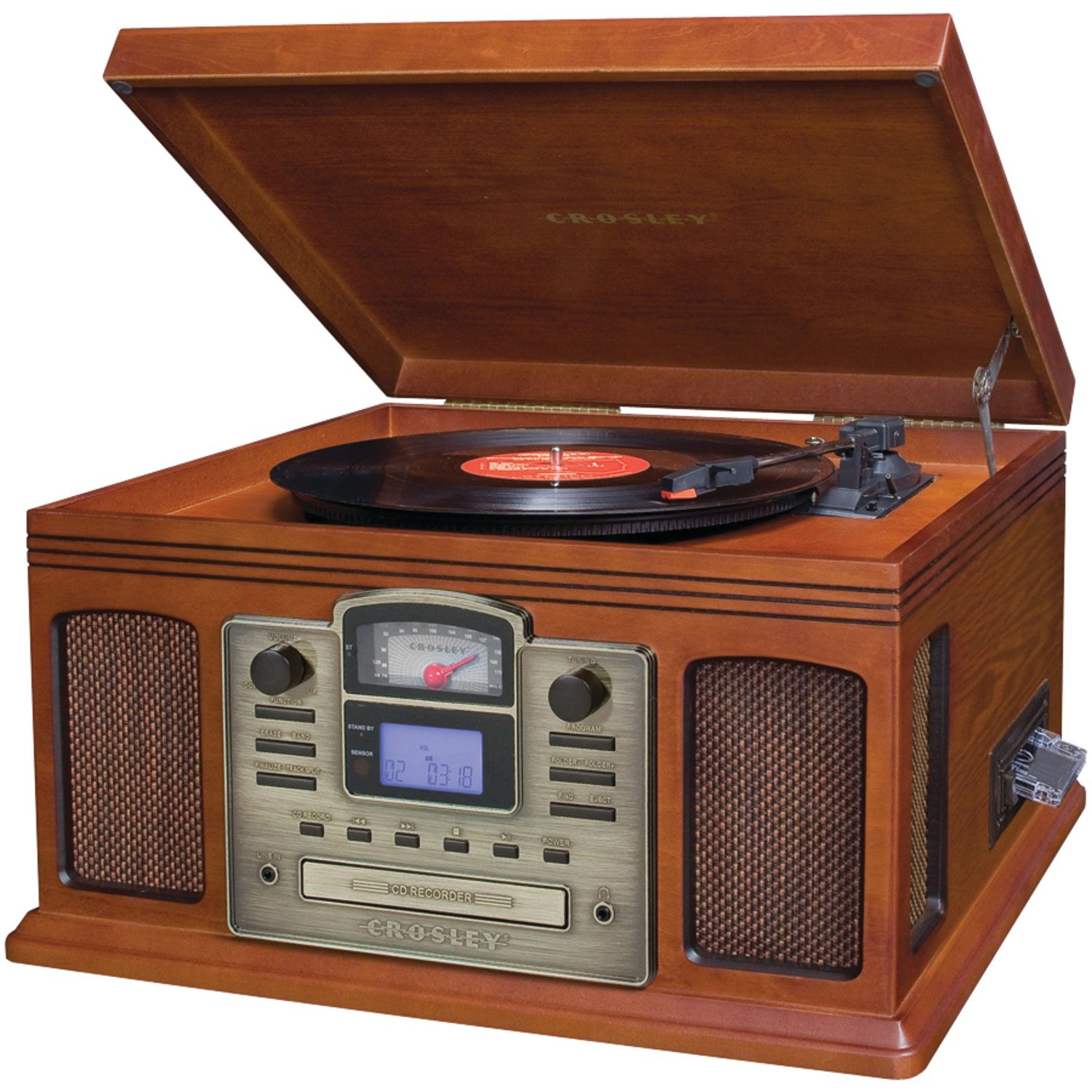 Amazon.com: Crosley CR2405C-PA Director CD Recorder with Cassette Player  (Paprika): Home Audio & Theater