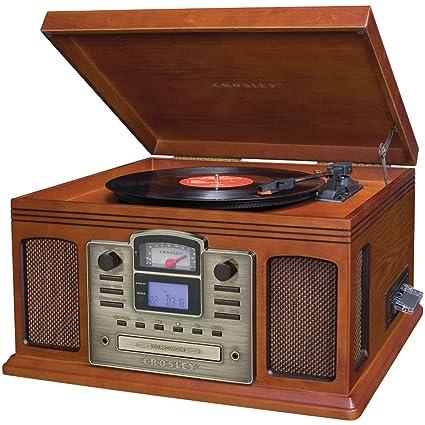 Amazon.com: Crosley Director Grabadora de CD Paprika: Home ...