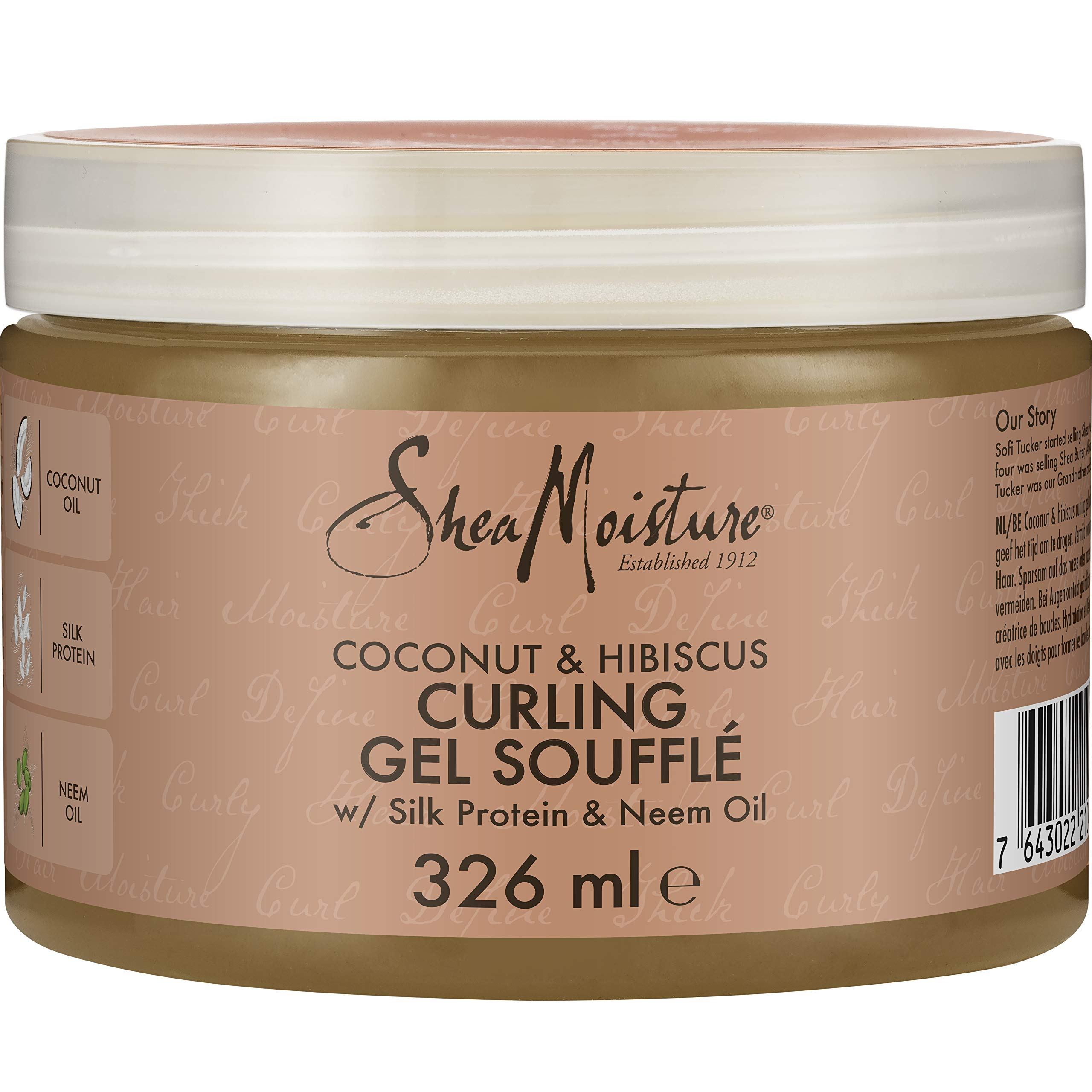 Shea Moisture Coconut and Hibiscus Curling Gel Souffle, 326 ml