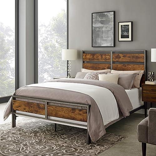 Walker Edison Arcadia Queen Size Bed Frame - a good cheap modern headboard