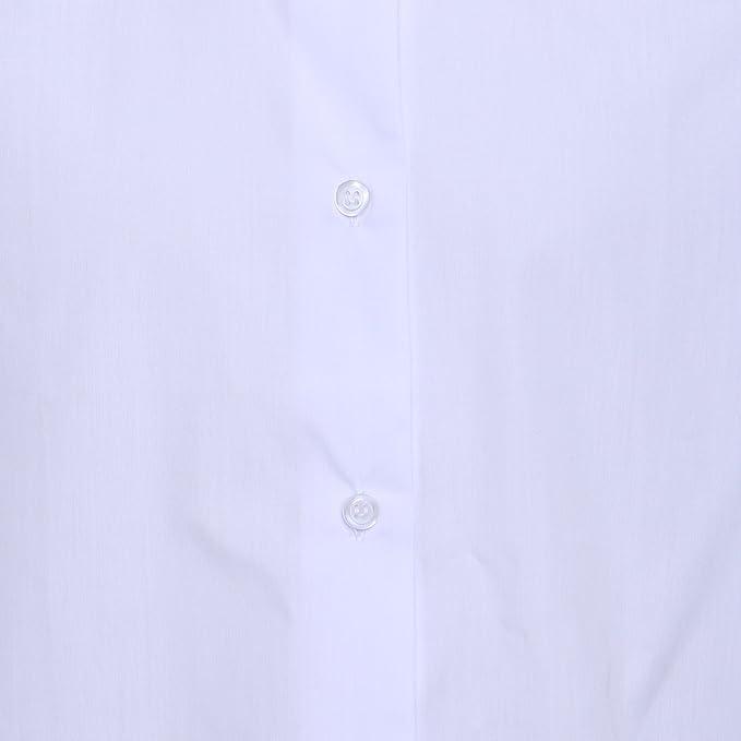Linen Galaxy Kids Girls Women White Long Sleeve Shirt School Uniform Shirts:  Amazon.co.uk: Clothing