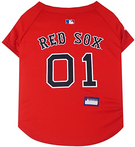 2a04b39d5 Amazon.com   Pets First MLB Boston RED SOX Dog Jersey