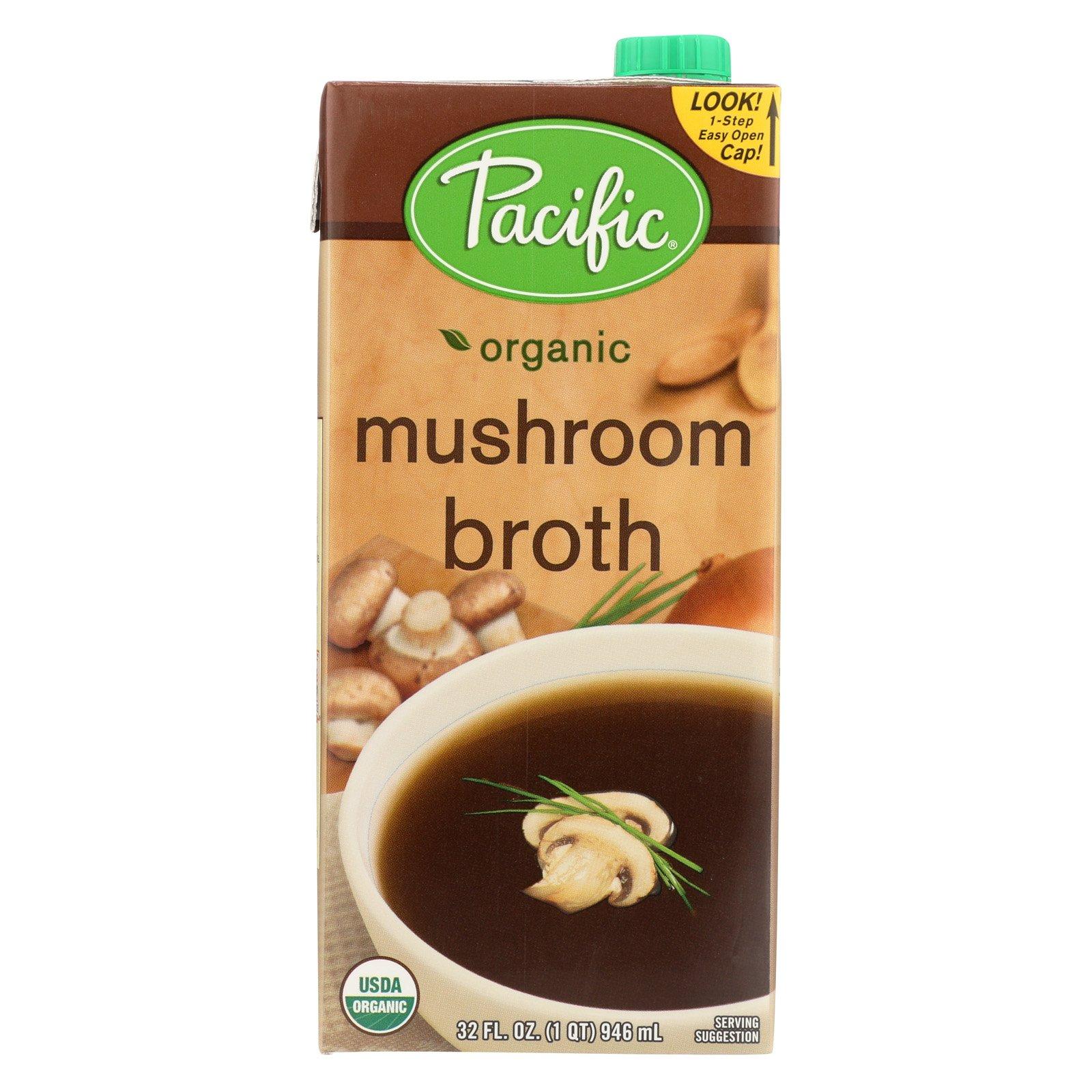 Pacific Natural Foods Mushroom Broth - Organic - Case of 12 - 32 Fl oz.