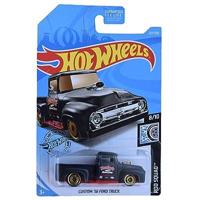 Hot Wheels Custom '56 Ford Truck 227/250, Black: Toys & Games