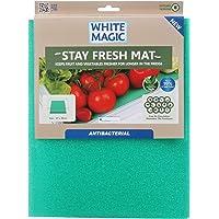 White Magic Antibacterial Stay Fresh Mat, Blue, 47x30cm
