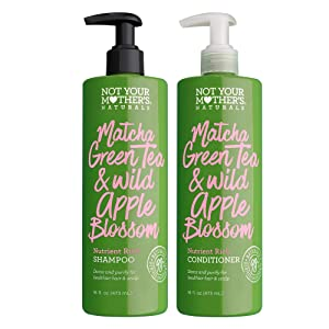 Not Your Mother's Naturals Matcha Green Tea Shampoo & Conditioner Dual Pack, 16 Count