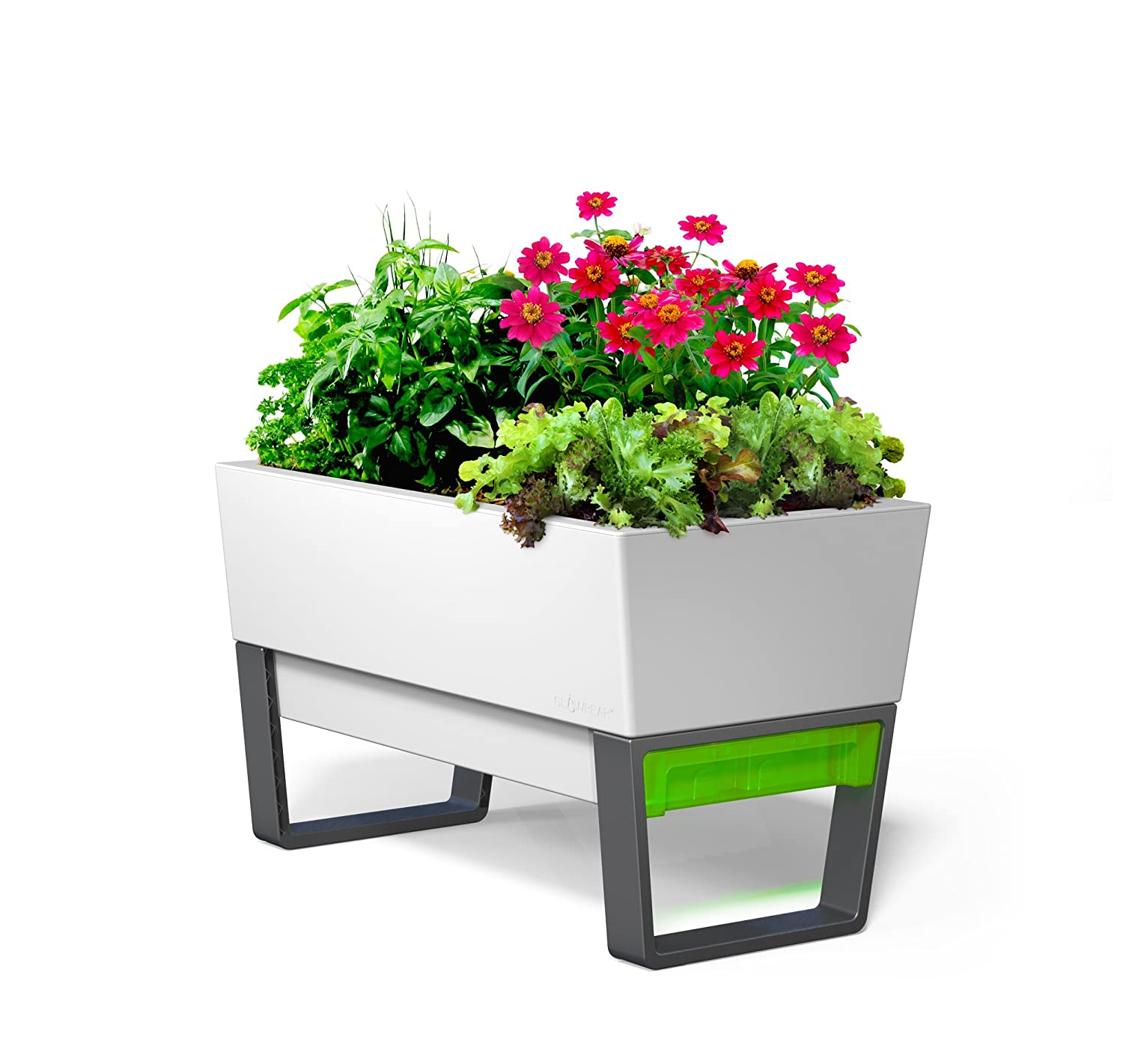 Amazoncom GlowPear Urban Garden Self Watering Mini Bench