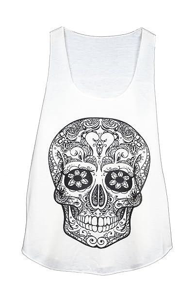 Camiseta SIN Mangas - Calavera - Cabeza DE Muerte - Tatuaje ...