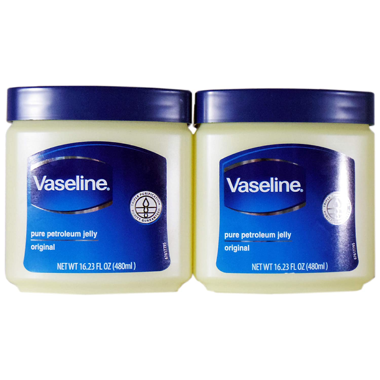 Vaseline Pure Petroleum Jelly, Original 16.23 Oz (2 Pack)