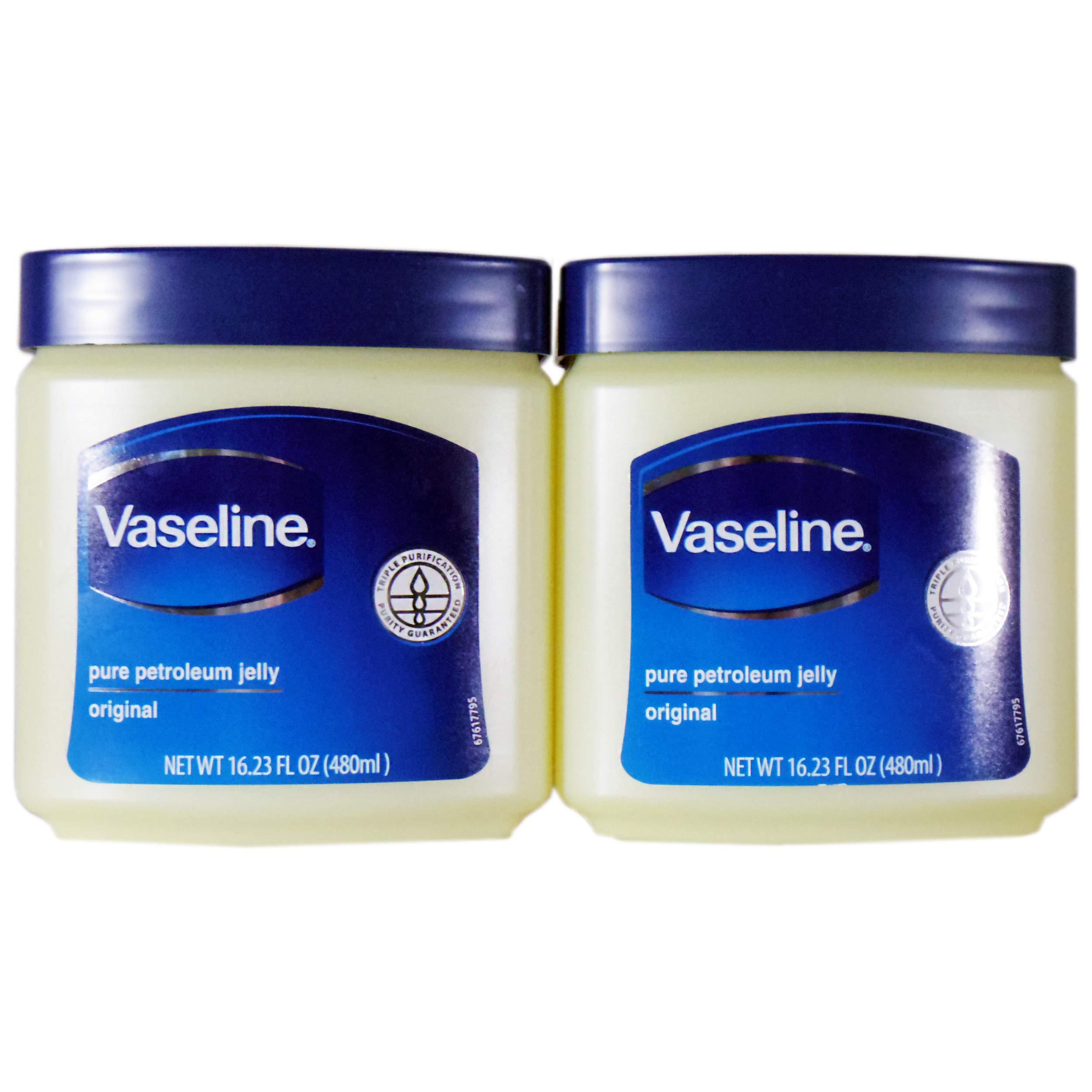 Vaseline Pure Petroleum Jelly, Original 16.23 Oz (2 Pack) by Vaseline