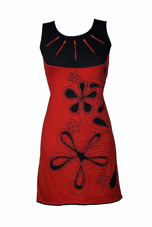 Luftiges Sommer Kleid mit Floral Patchwork Print und spielerischen Details - IMMA