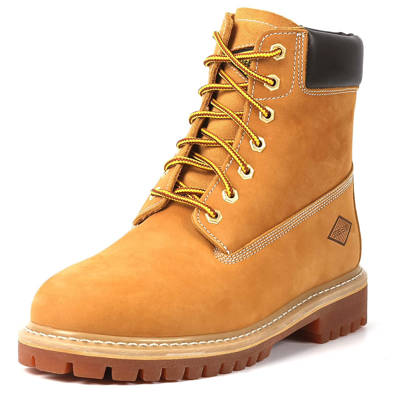 6� Stylish Casual Wear Soft Toe Boots - Lace Up Style Work Boots - Slip And Oil Resistant Outsoles (13)