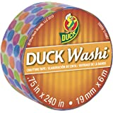 Duck Brand Washi Crafting Tape, 0.75-Inch by 240-Inch Roll, Single Roll, Multi Dots (282680-S)