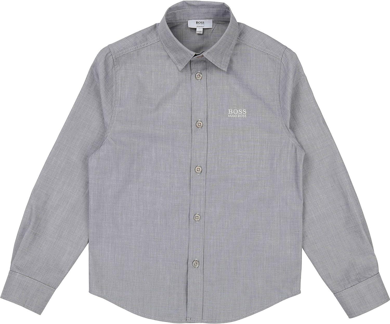 BOSS Camisa Hugo Junior - Ref. J25D37-M01 Gris 12A: Amazon.es ...