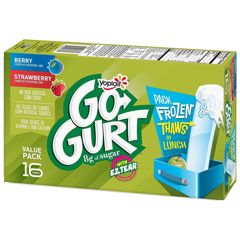Yoplait Go-Gurt Kids Yogurt Tubes Variety Pack 16ct: Amazon.com: Grocery & Gourmet Food