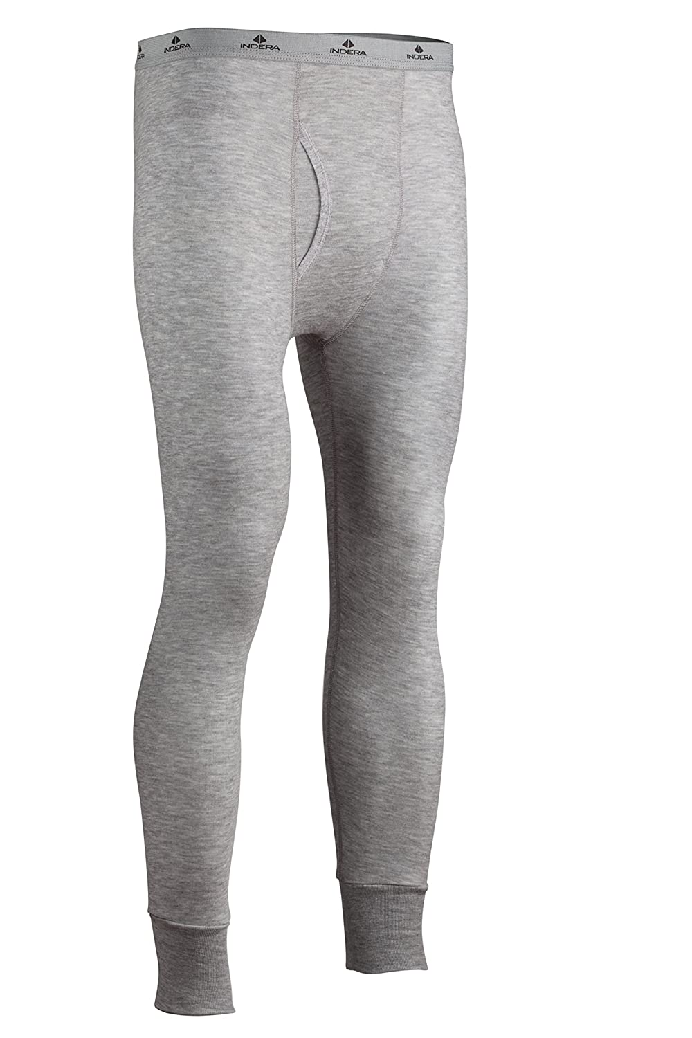 Indera Mens Dual Face Raschel Knit Performance Thermal Underwear Pant with Silvadur ColdPruf Baselayer