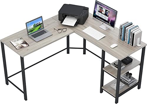 Fulol Industrial L-Shaped Computer Corner Desk
