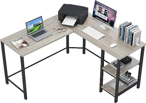 Fulol Industrial L-Shaped Computer Corner Desk