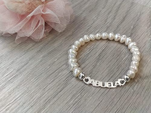 Pulsera Abuela perlas y plata: Amazon.es: Handmade