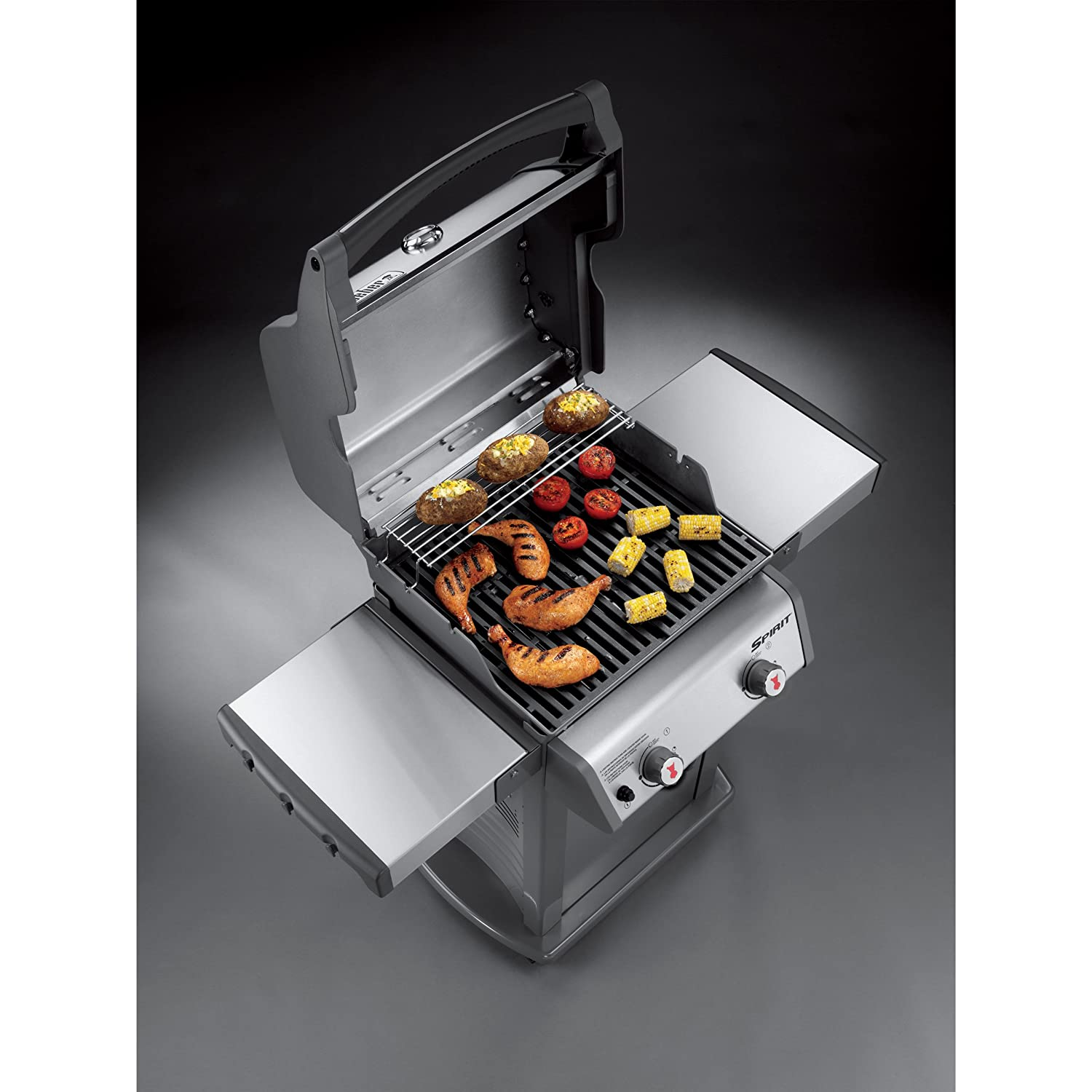 Amazon.com: Weber 46100001 Spirit S210 Liquid Propane Gas Grill, Stainless  Steel: Garden & Outdoor
