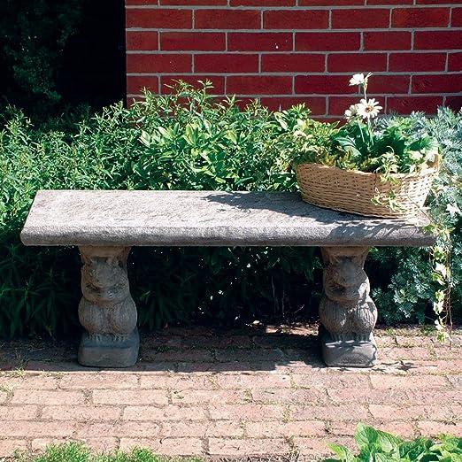 Banco de jardín grande - banco piedra superior dekowunder hetero: Amazon.es: Jardín