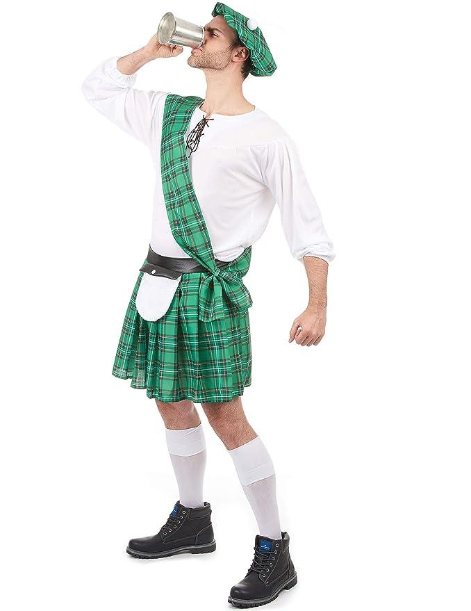 Disfraz escocés verde hombre: Amazon.es: Juguetes y juegos