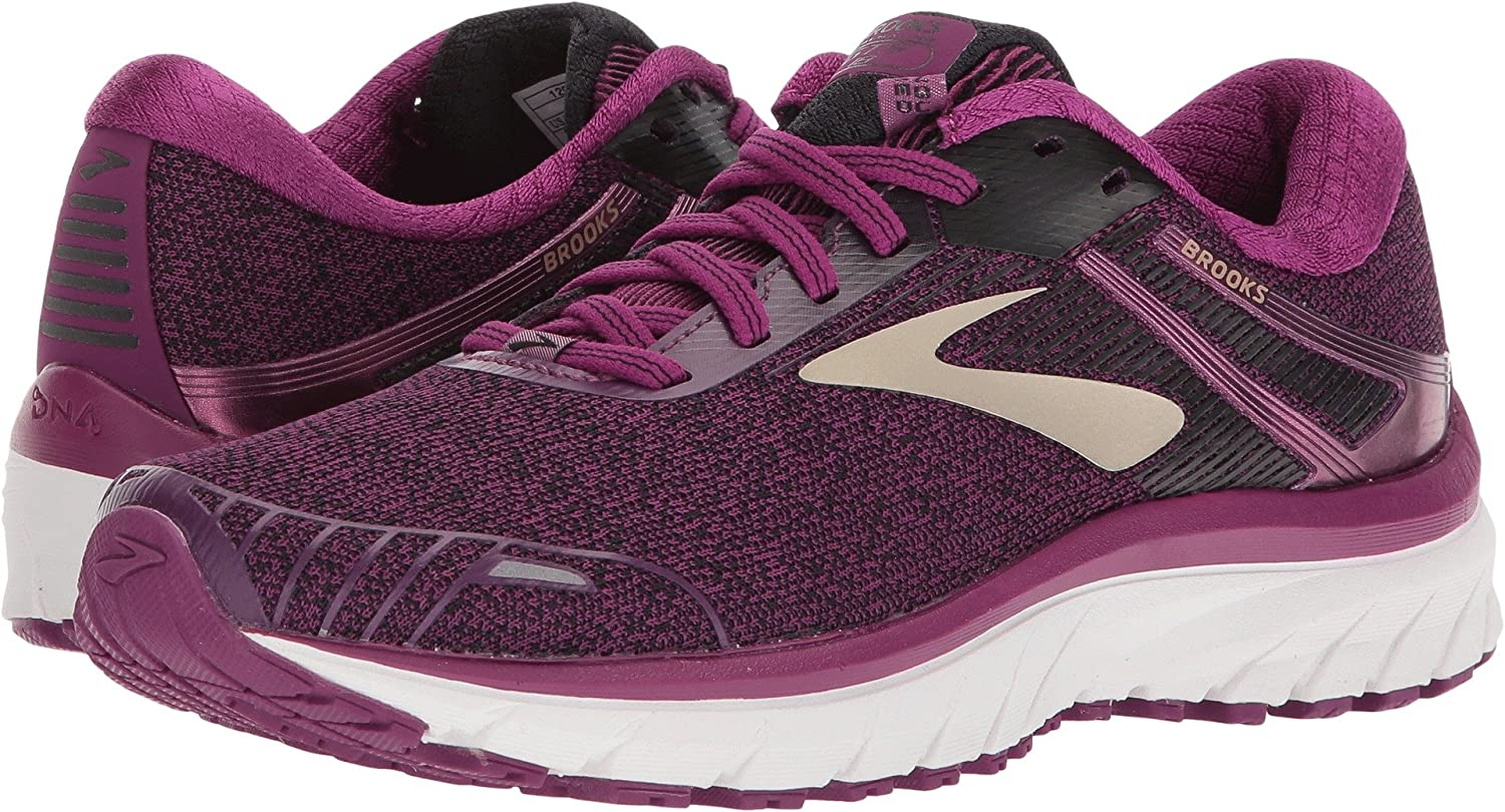 Brooks Womens Adrenaline GTS 18 B0721CQFYY 9 B(M) US|Purple/Black/Champagne