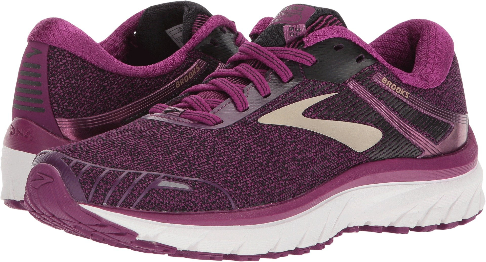Brooks Women's Adrenaline GTS 18 Purple/Black/Champagne 5 B US