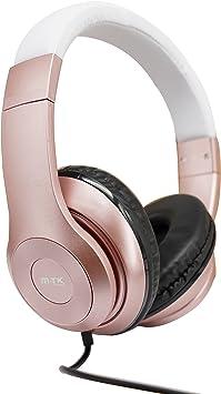 MTK® Auriculares con Micrófono Estéreo Auriculares Cerrado Juegos Headphone para Smartphone iPhone Tablet PC Games Notebook K3407R: Amazon.es: Electrónica
