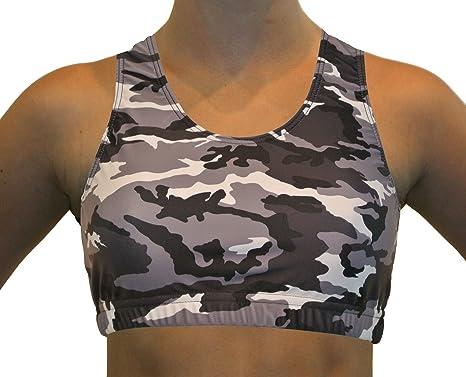 7b88954b18 GemGear Camo Print Raser Sports Bra at Amazon Women s Clothing store