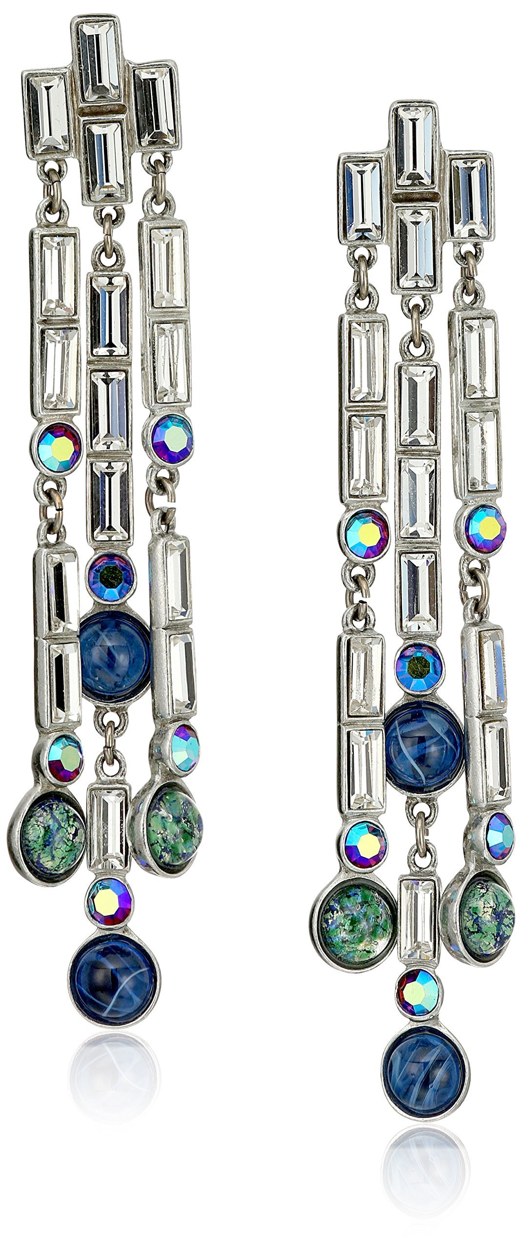 Ben-Amun Jewelry Eclipse Shooting Star Swarovski Crystal Drop Earrings