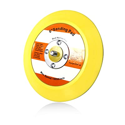 Maxshine Professional Yellow DA/Dual Action Dia: 6 inches/150mm Backing Pad-Ideal for All Brands of Dual Action Polisher: Automotive