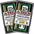 16GB Kit 2X 8GB DDR3L 1600MHz PC3L-12800 Non ECC Unbuffered 1.35V / 1.5V CL11 2Rx8 Dual Rank SODIMM Laptop Notebook 204-Pin Memory Ram Genuine A-Tech Brand