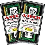 A-Tech 16GB (2x8GB) DDR3 / DDR3L 1600MHz SODIMM PC3L-12800 2Rx8 1.35V CL11 Non-ECC Unbuffered 204-Pin SO-DIMM Notebook Laptop