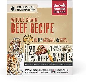 The Honest Kitchen Human Grade Dehydrated Organic Grain Beef Dog Food 2 lb - Verve