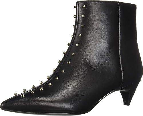 Nine West Women's ZYRANNIA Leather Ankle Boot, Black, 5 UK