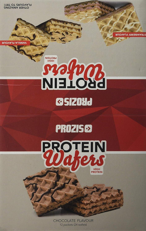 Prozis Protein Wafer, Sabor Chocolate - 12 Unidades: Amazon.es: Salud y cuidado personal