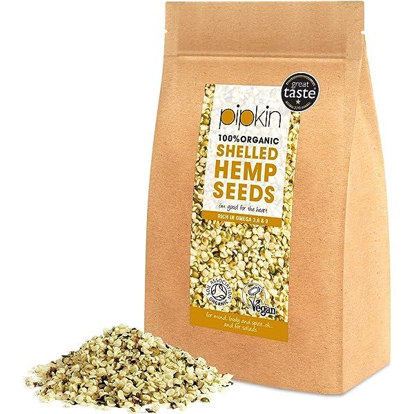Pipkin Semillas Peladas de Cáñamo 100% Orgánicas, No-GMO ...