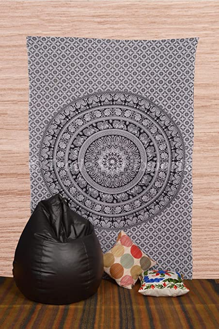 Twin Hippie Mandala Tapestries Indian Elephant Wall Hanging Gypsy Urban Tapestry