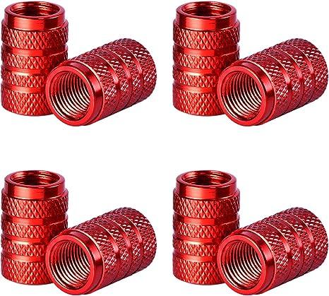 8 pezzi ROSSI DI PLASTICA IN GOMMA TAPPI Cappucci Valvola Per Auto Auto Moto Camion-NUOVO