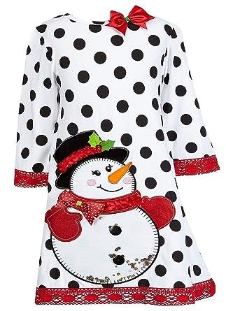 a823ec4233ec Amazon.com: Counting Daisies Girls Size 7-16 Dot Snowman Christmas ...