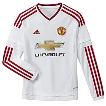 new concept 2c8a1 0da63 Amazon.com: adidas 2015-2016 Man Utd Away Long Sleeve ...