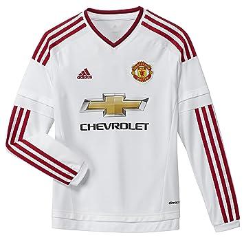fe72f61ba adidas 2015-2016 Man Utd Away Long Sleeve Football Soccer T-Shirt Jersey (